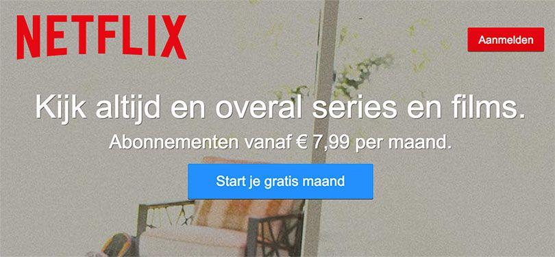 Netflix aanmelden