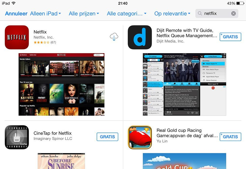 Netflix iPad
